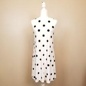 Lauren Ralph Lauren  - B&W Polka Dot A-Line Dress
